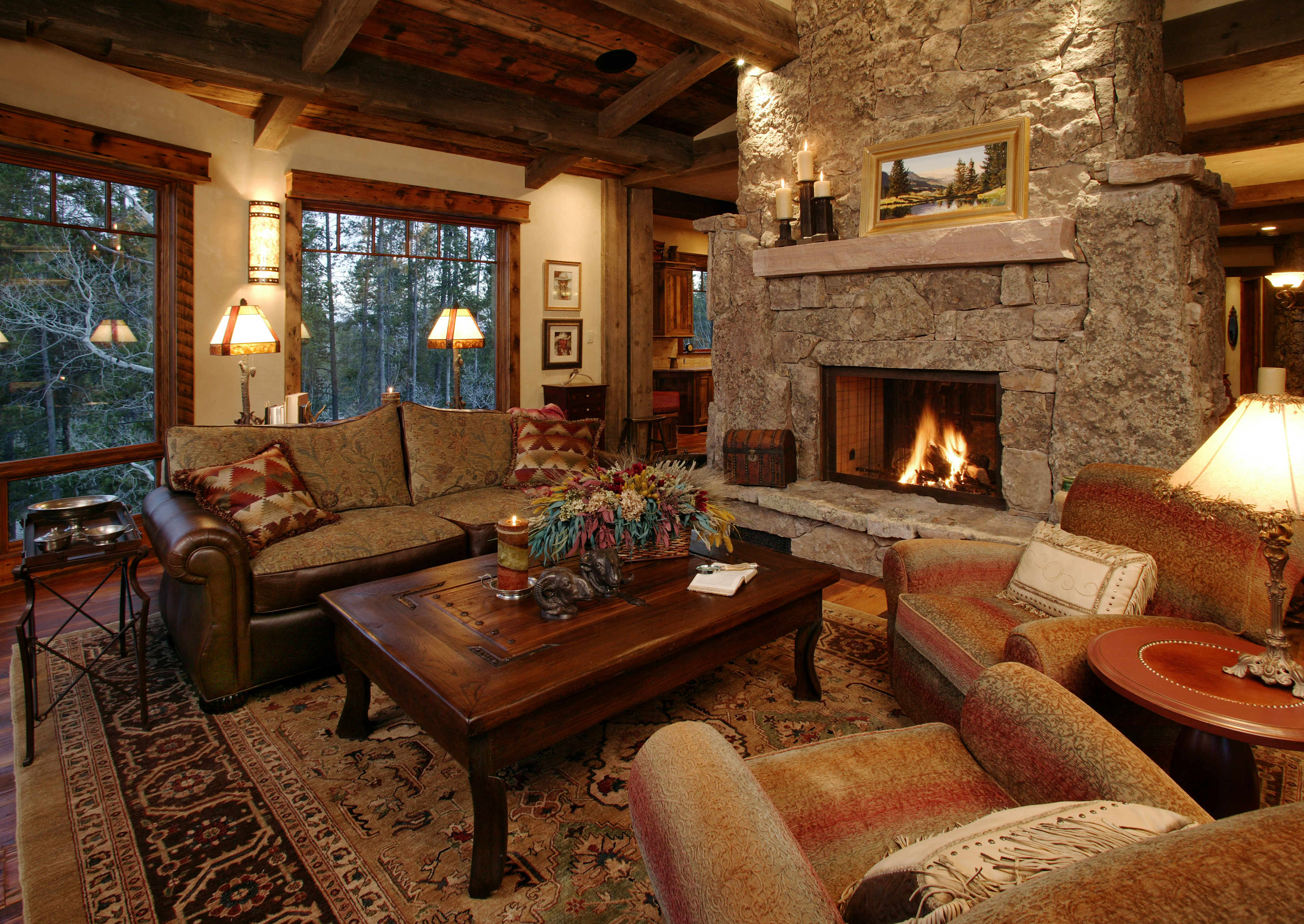 Ski mountain in your back yard steamboat local brokers - Lodge living room decorating ideas ...