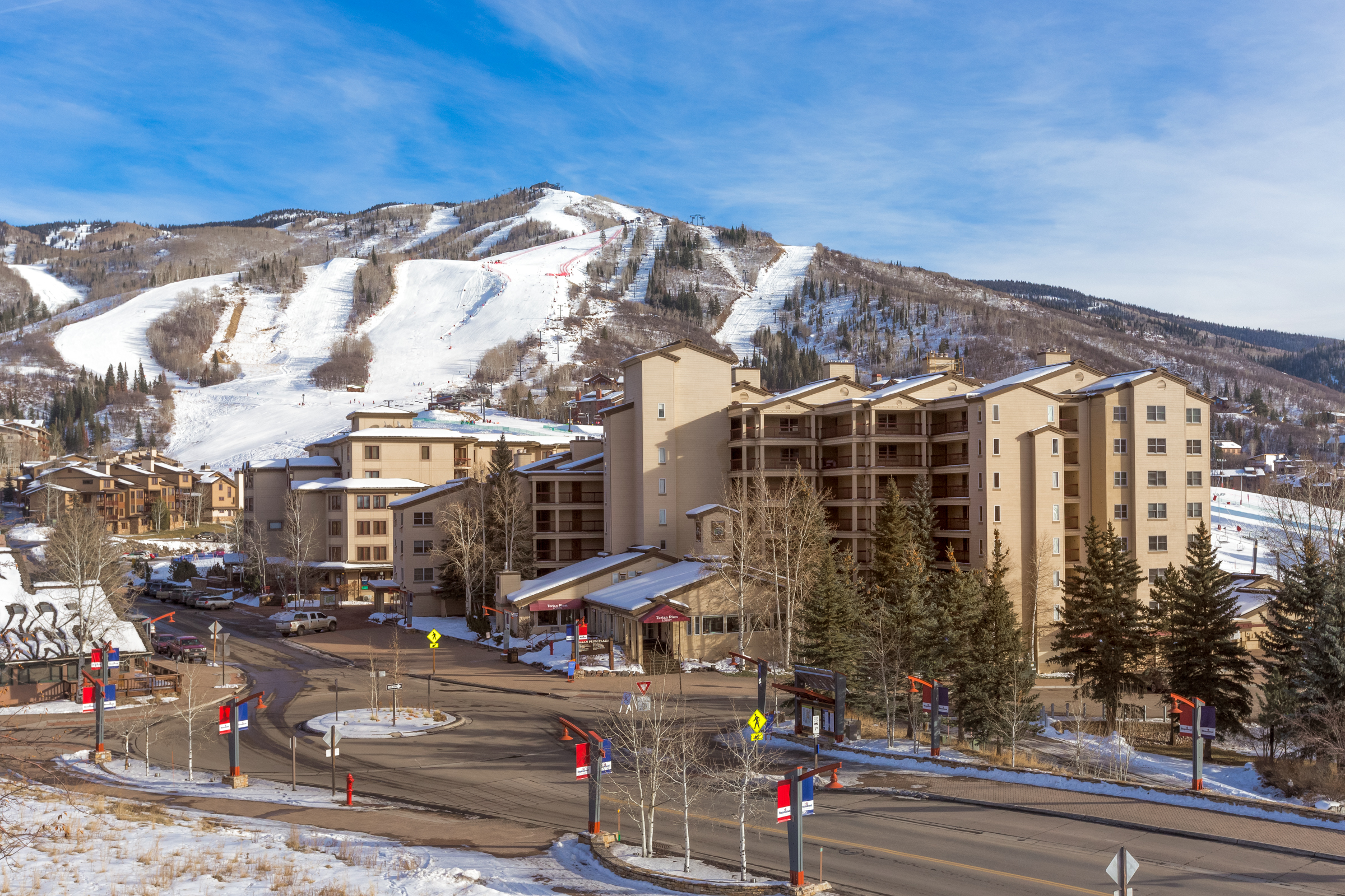 Torian Plum Overlooking Steamboat Ski Mountain